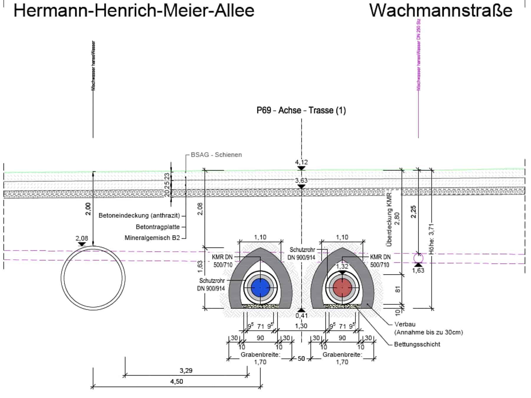 Ingenieurbüro Nebel - Ingenieurbüro Mespelbrunn - Projekt - Fernwämre Bremen